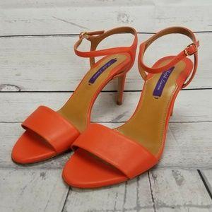 Ralph Lauren Purple Label Orange Strap Heels 36B 6